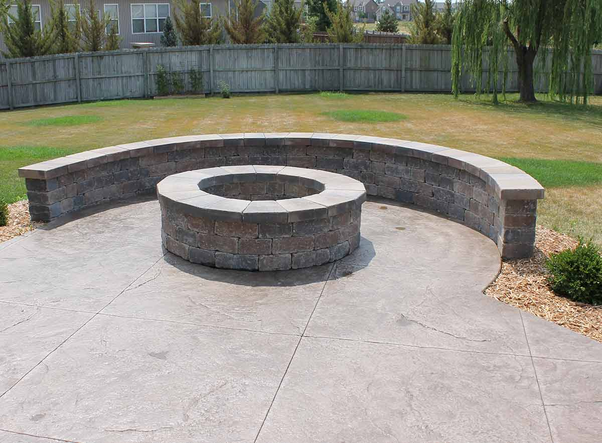 firepit concrete patio twin falls idaho