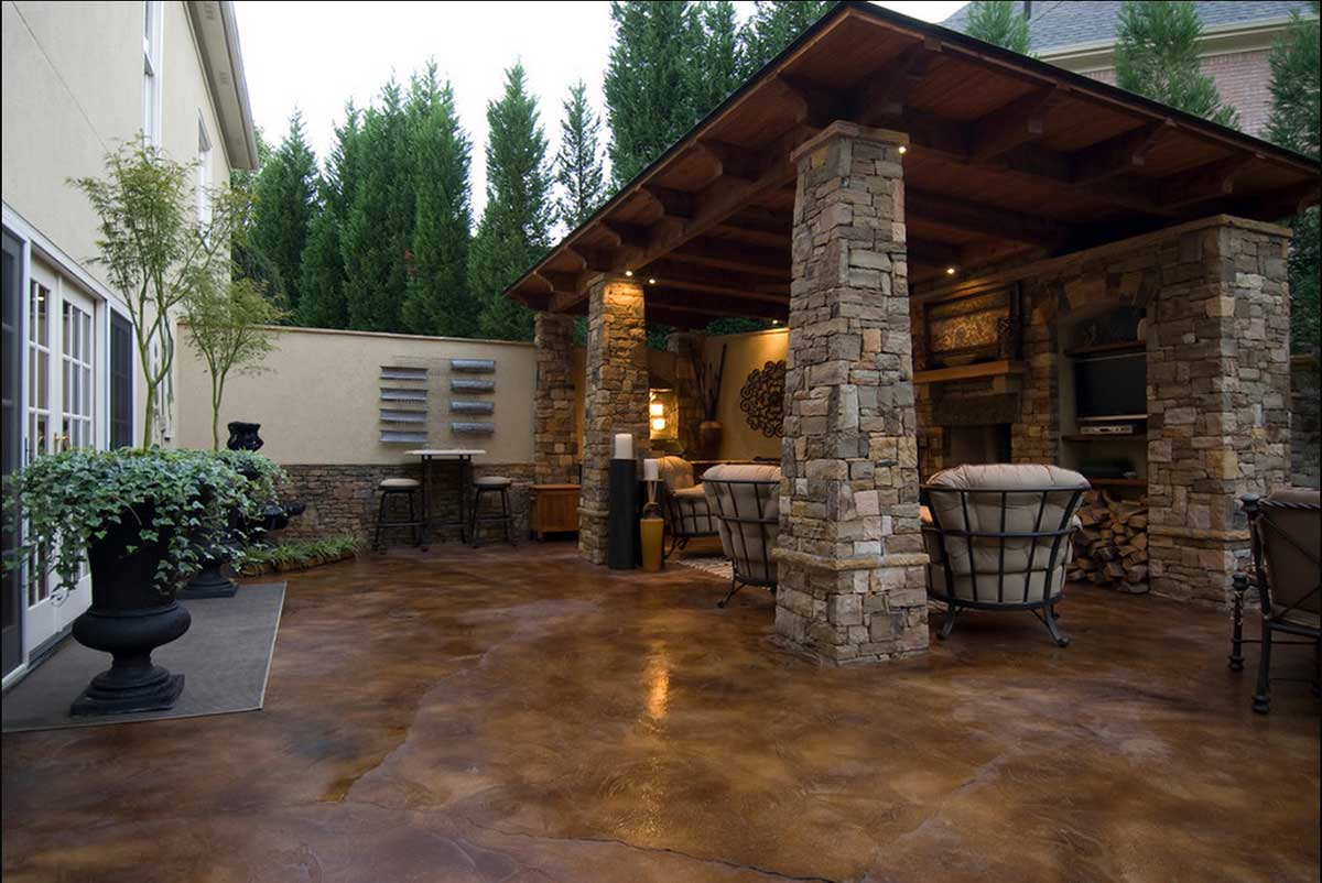 stained concrete patio twin falls idaho