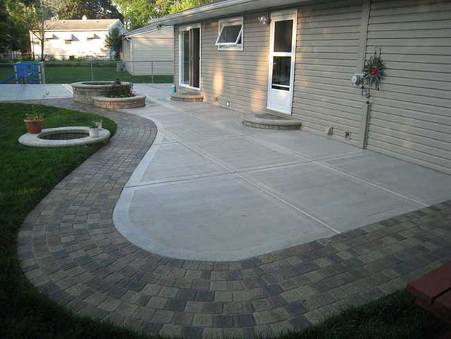 stained concrete sidewalk twin falls idaho